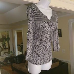 Lucky brand ladies summer long sleeve blouse
